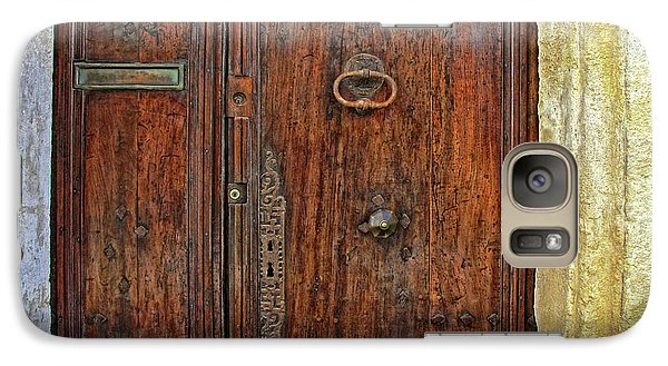 Galaxy Case featuring the photograph Old Door Study Provence France by Dave Mills