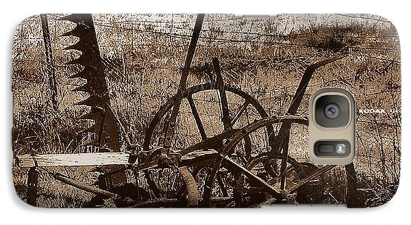 Galaxy Case featuring the photograph Old Farm Equipment by Blair Stuart