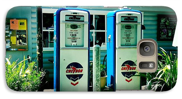 Galaxy Case featuring the photograph Old Fashioned Gas Station by Nina Prommer