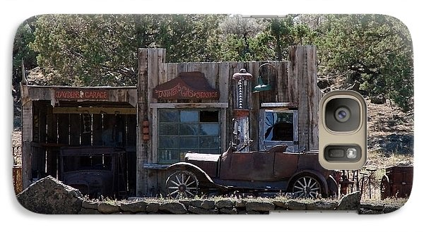Galaxy Case featuring the photograph Old Filling Station by Athena Mckinzie