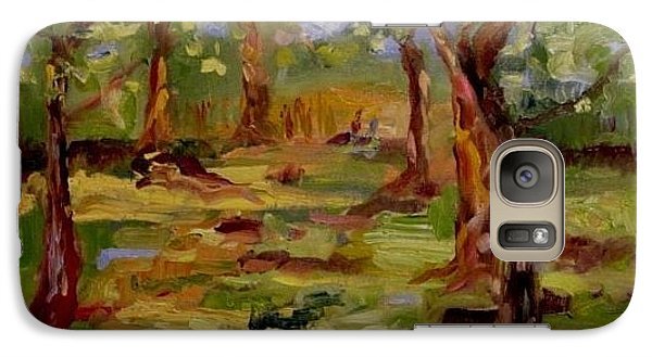 Galaxy Case featuring the painting Old Fort Park by Carol Berning