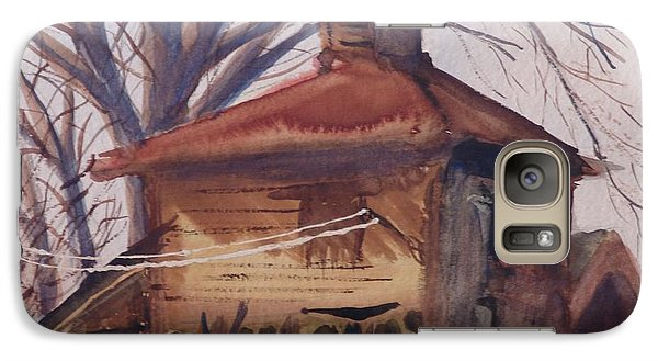 Galaxy S7 Case featuring the painting Old Garage by Rod Ismay