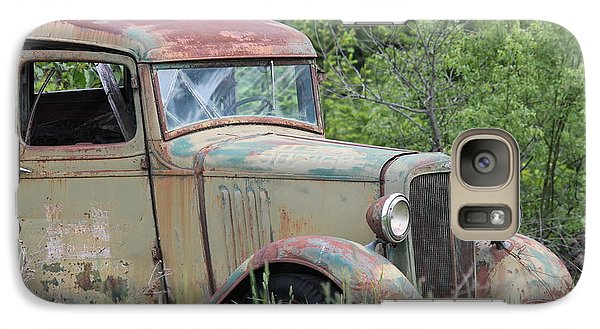 Galaxy Case featuring the photograph Abandoned Truck In Field by Athena Mckinzie