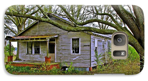 Galaxy Case featuring the photograph Old Gray House by Judi Bagwell