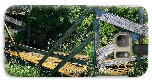 Galaxy Case featuring the photograph Old Hayrack by Jim Sauchyn