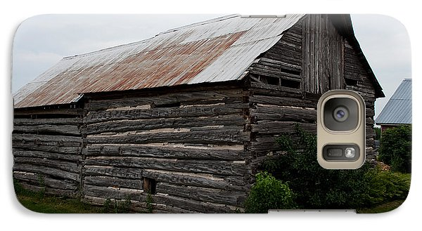 Galaxy Case featuring the photograph Old Log Building by Barbara McMahon