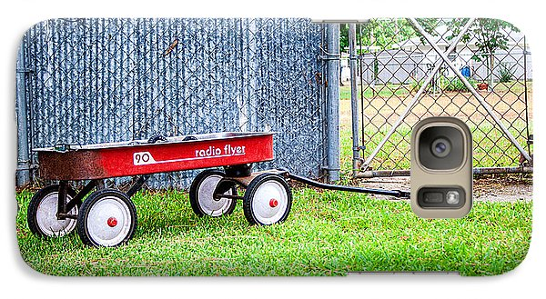 Galaxy Case featuring the photograph Old Radio Flyer Wagon by Ester  Rogers