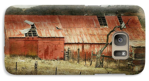 Galaxy Case featuring the photograph Old Red Barn by Joan Bertucci