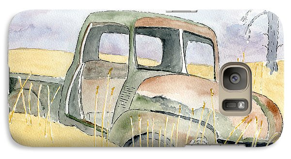 Galaxy Case featuring the painting Old Rusty Truck by Eva Ason