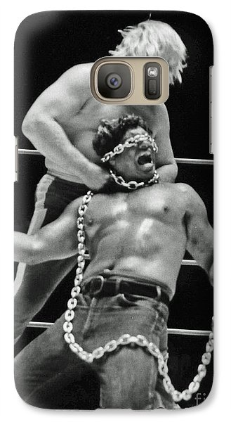 Galaxy Case featuring the photograph Old School Wrestling Chain Match Between Moondog Mayne And Don Muraco by Jim Fitzpatrick