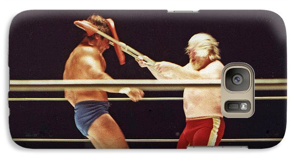 Galaxy Case featuring the photograph Old School Wrestling Chair Shot To The Head On Don Muraco By Moondog Mayne by Jim Fitzpatrick