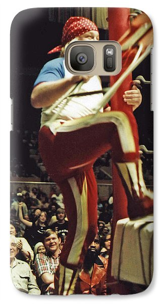 Galaxy Case featuring the photograph Old School Wrestling From The Cow Palace With Moondog Mayne by Jim Fitzpatrick