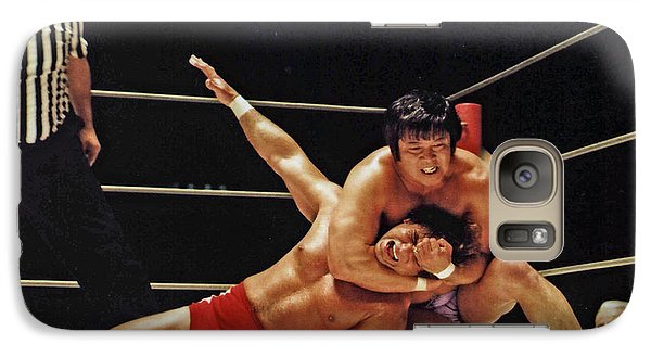 Galaxy Case featuring the photograph Old School Wrestling Headlock By Dean Ho On Don Muraco by Jim Fitzpatrick