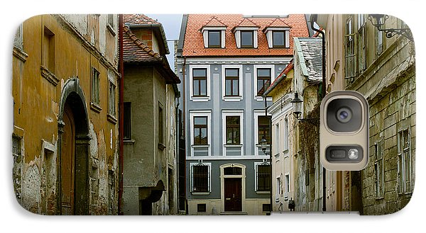 Galaxy Case featuring the photograph Old Street In Bratislava by Les Palenik