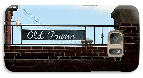 Galaxy Case featuring the photograph Old Towne Sign by Karen Harrison