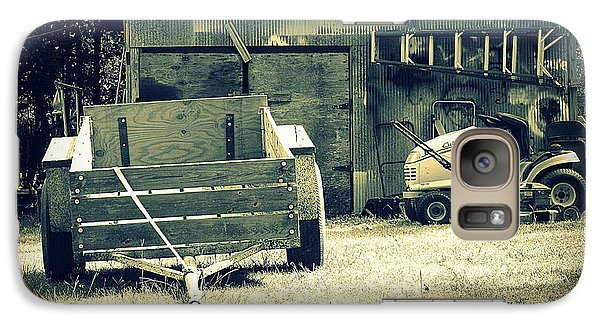 Galaxy Case featuring the photograph Old Wagon And Old Shed by Ester  Rogers