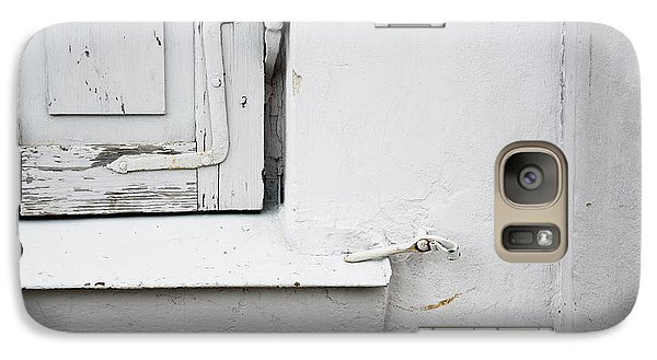 Galaxy Case featuring the photograph Old Window Shutters Detail by Agnieszka Kubica