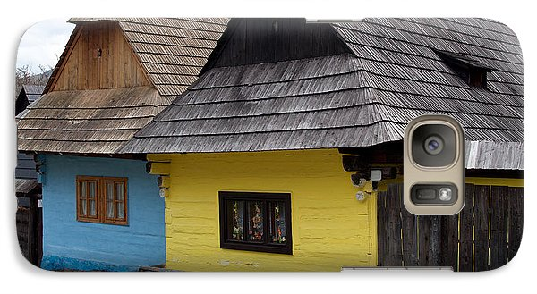 Galaxy Case featuring the photograph Old Wooden Homes by Les Palenik