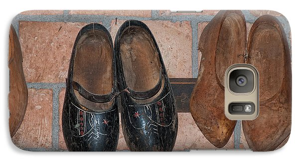 Galaxy Case featuring the digital art Old Wooden Shoes by Carol Ailles