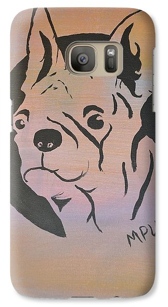 Galaxy Case featuring the painting Ole Fella by Maria Urso