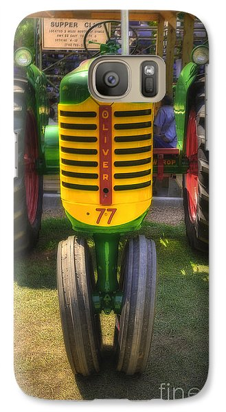 Galaxy Case featuring the photograph Oliver Crop Row 77 by Trey Foerster