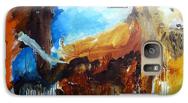Galaxy Case featuring the painting On Safari by Keith Thue