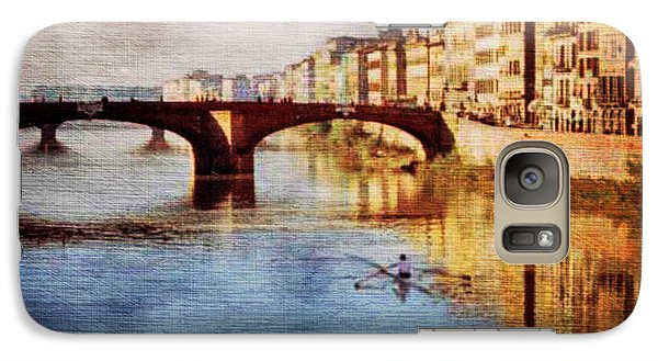 Galaxy Case featuring the photograph On The Arno River by Deborah Smith