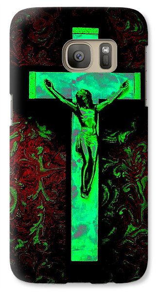 Galaxy Case featuring the photograph On The Cross by David Pantuso