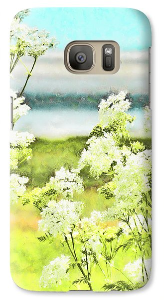 Galaxy Case featuring the digital art On The Mudflats Of Pegwell Bay by Steve Taylor