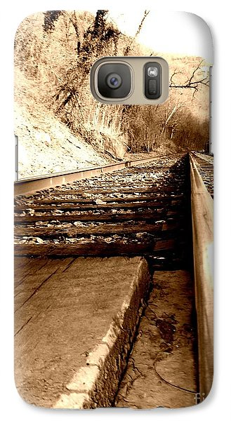 Galaxy Case featuring the photograph On The Rail by Amy Sorrell