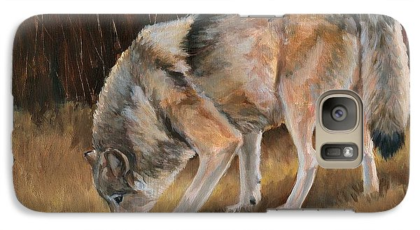 Galaxy Case featuring the painting On The Trail - Wolf by Sheri Gordon