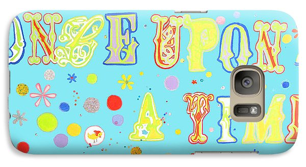 Galaxy Case featuring the painting Once Upon A Time by Beth Saffer