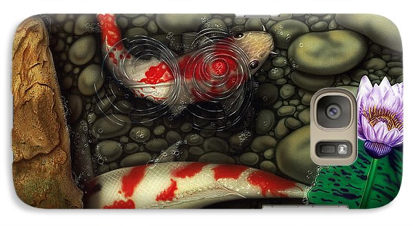 Galaxy Case featuring the painting One Fish Two Fish by Dan Menta