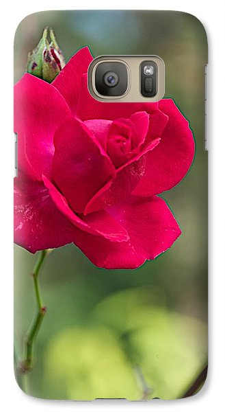 Galaxy Case featuring the photograph One Rose by Joseph Yarbrough