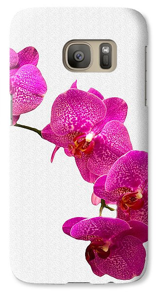 Galaxy Case featuring the photograph Oodles Of Purple Orchids by Michael Waters