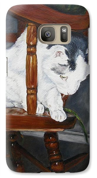 Galaxy Case featuring the painting Oops by Lori Brackett