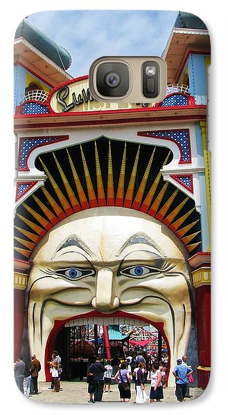 Galaxy Case featuring the photograph Luna Park by Michele Penner