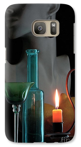 Galaxy Case featuring the photograph Orange Candle by Elf Evans
