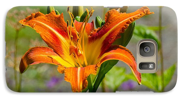 Galaxy Case featuring the photograph Orange Day Lily by Tikvah's Hope