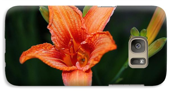Galaxy Case featuring the photograph Orange Lily by Davandra Cribbie