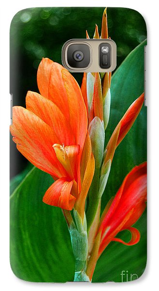 Galaxy Case featuring the photograph Orange by Linda Mesibov