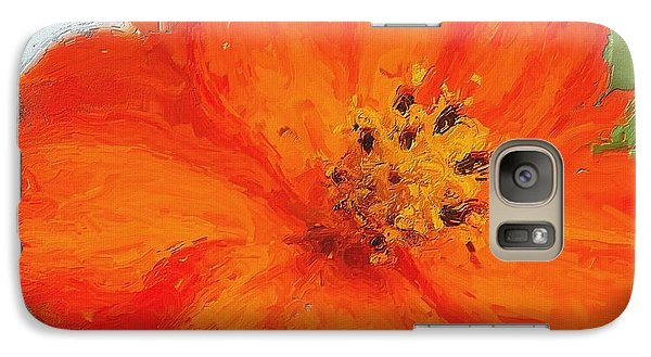 Galaxy Case featuring the painting Orange by Michelle Joseph-Long