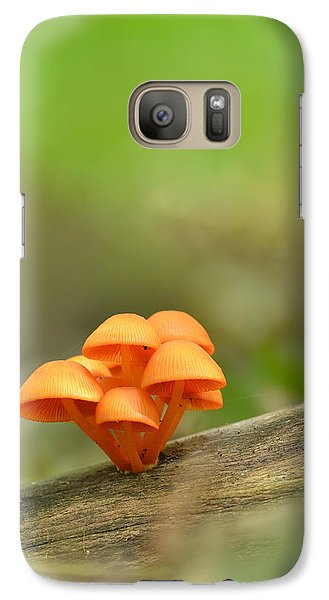 Galaxy Case featuring the photograph Orange Mushrooms by JD Grimes