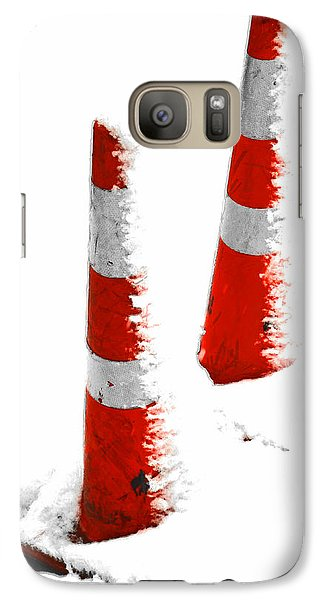 Galaxy Case featuring the digital art Orange Snow Cones by Steve Taylor