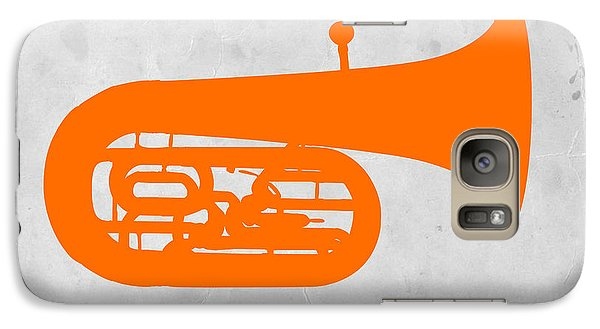 Orange Tuba Galaxy S7 Case by Naxart Studio