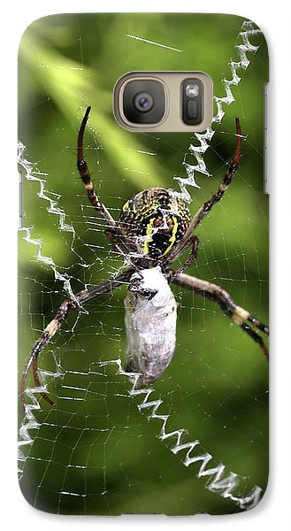 Galaxy Case featuring the photograph Orb Weaver by Joy Watson