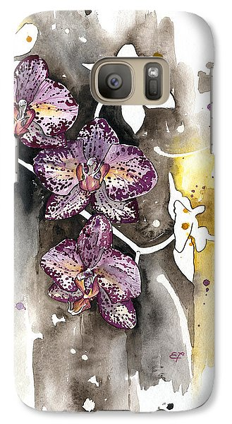 Galaxy Case featuring the painting Orchid 13 Elena Yakubovich by Elena Yakubovich