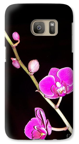 Galaxy Case featuring the photograph Orchid by Sylvie Leandre