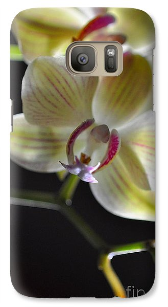 Galaxy Case featuring the photograph Orchidee by Sylvie Leandre