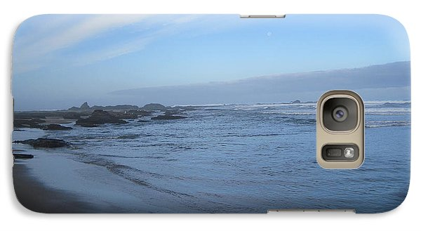 Galaxy Case featuring the photograph Oregon Coast In Blue by Karen Molenaar Terrell